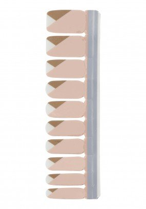 Nail Strip Pink/Brown/White
