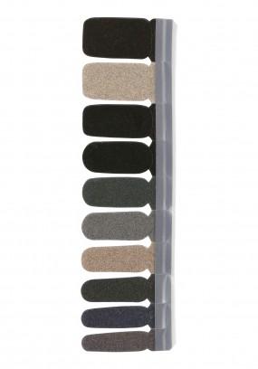 Nail Strip Glitter Dark Green/Nude/Grey