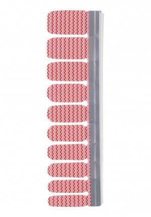 Nail Strip White/Red Candy Cane