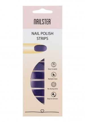 Nail Strip Glitter White/Purple