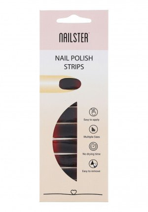 Nail Strip Dark Red/Black